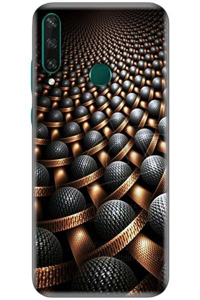 Turkiyecepaksesuar Huawei Y6p Uyumlu Kılıf + Tam Ekran Kaplayan Kırılmaya Dayanaklı 5d Cam