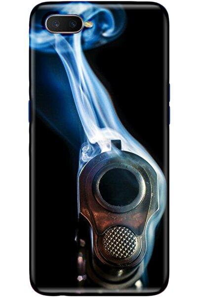Turkiyecepaksesuar Oppo Rx17 Neo Desenli Kılıf + Temperli Ekran Koruyucu Cam