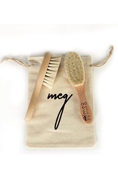 MEG Dry Brush Doğal Bebek Tarağı %100 Keçi Kılı