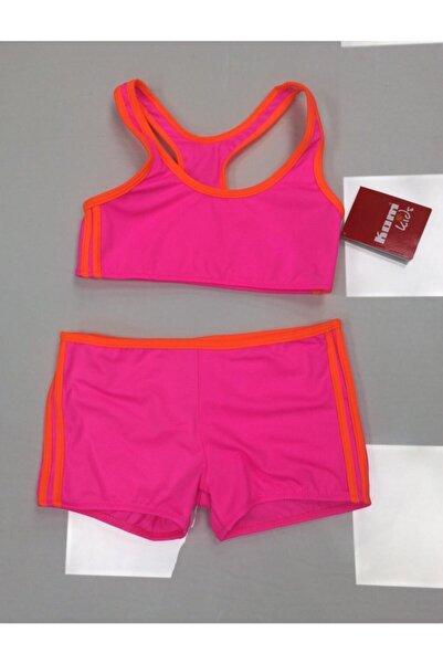 Kom Kız Çocuk Pembe Neon Sporcu Bikini