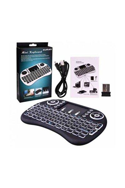 POLYGOLD Işıklı Mini Klavye Mouse Smart Tv Box Pc Şarjlı Pg-8035