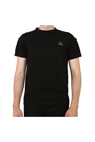 Vogel Kısa Kol Yakasız Siyah Tşört