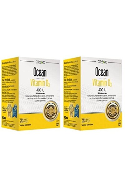Ocean Ocean Vitamin D3 400 Iu 20 Ml Sprey 2 Kutu