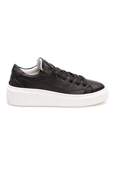 Pegia Siyah Kadın Hakiki Deri Sneaker La1505