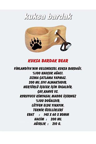 NURGAZ Kuksa Kayın Rengi Bardak Bear Ng kks-B