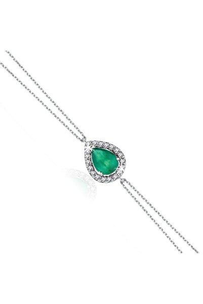 Yetkin Diamond Kadın  Pırlanta Zümrüt Bileklik 0.65 Karat
