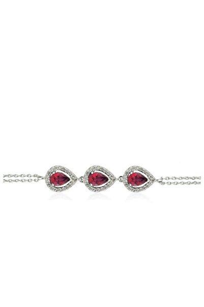 Yetkin Diamond Kadın Kırmızı 1.95 Karat Pırlanta Yakut Bileklik