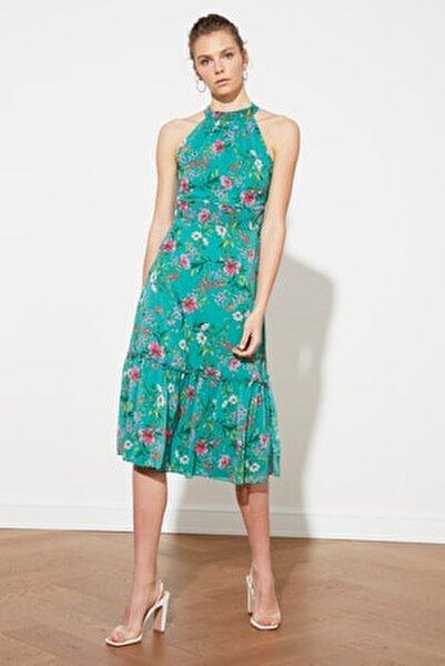 Mint Desenli Elbise TWOSS19LJ0200