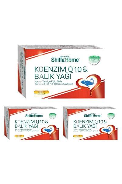 Shiffa Home Koenzim Q10 & Balık Yağı X 3 Adet