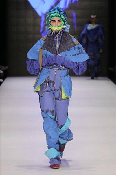 Futuristiklover Kadın Mavi Denim Pantolon