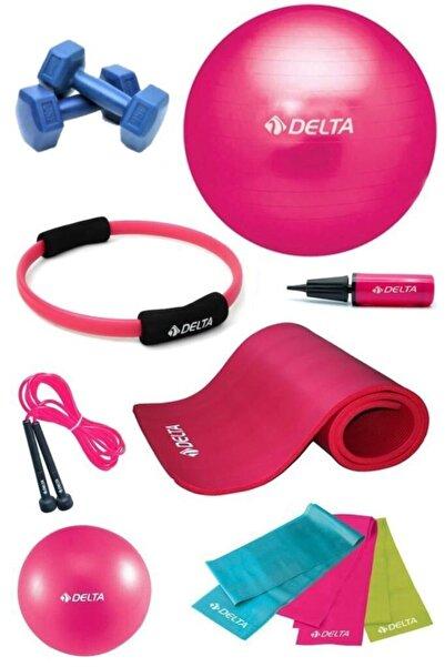 Delta 10 mm Deluxe Minderli 55 cm PFS Full Pilates Seti