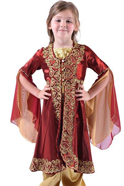 ceocuk Bordo Çocuk Kaftan Bindallı Kına Elbisesi