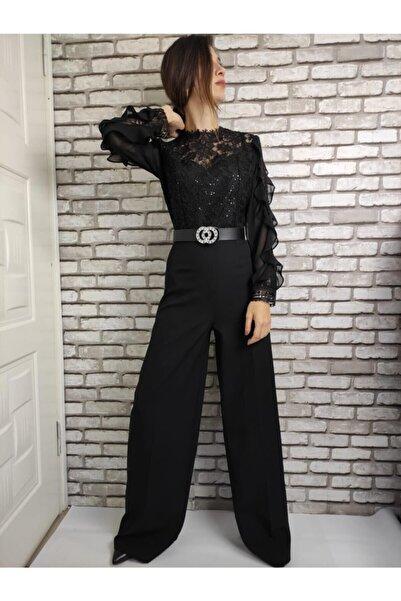 Gizline Kadın Siyah Tulum Elbise