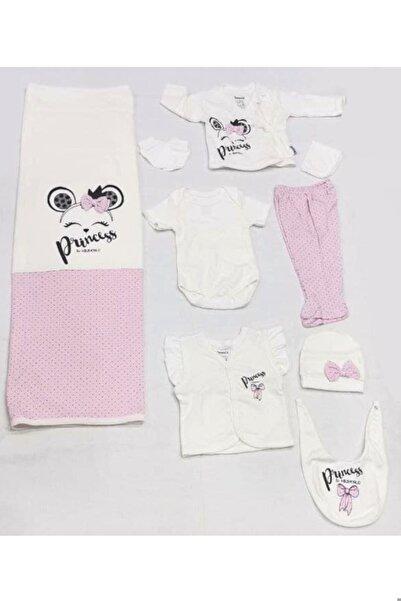 Miniworld Bebek Prenses Nakışlı Hastane Çıkışlı Zıbın 10 Parça