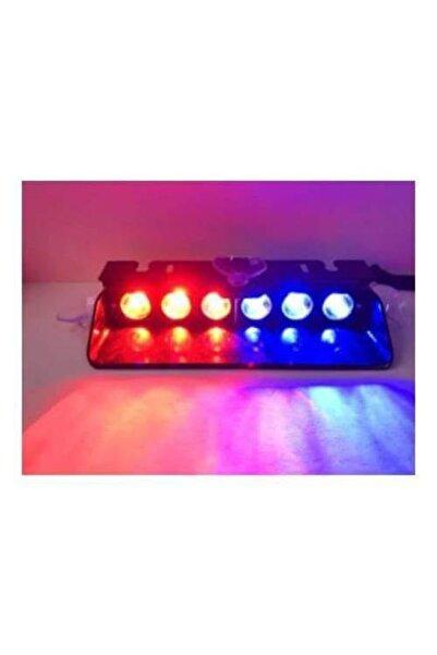 DORCAR Araç Içi Vantuzlu Çakar Lamba Kırmızı-mavi 12v 6 Ledli 7 Modlu