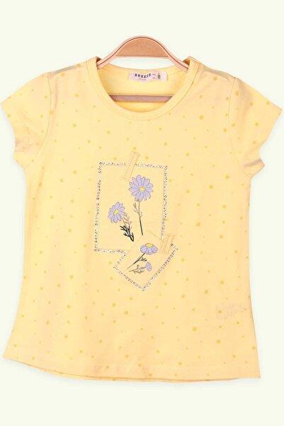 Breeze Kız Çocuk Tişört Çiçek Portreli Sarı (2-6 Yaş)