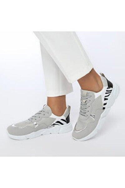 20SF-2001 Gri Kadın Sneaker Ayakkabı 100530776