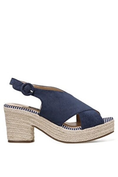 NORMINA Lacivert Kadın Dolgu Topuk Sandalet 100524806