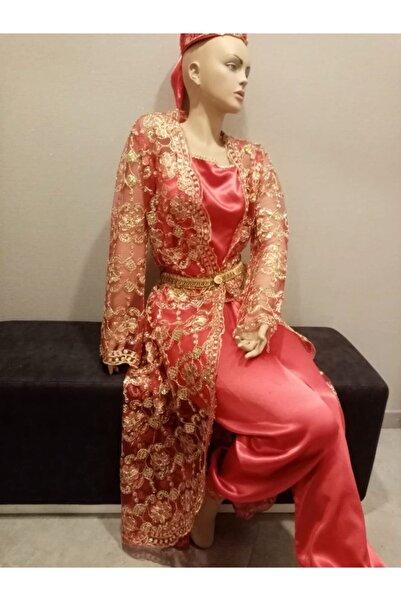 Gigs Fashion Brands Tel Kırma Bindallı 3 Etek Kırmızı