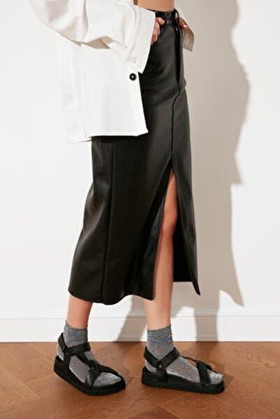 Siyah Kadın Sandalet TAKSS21SD0019