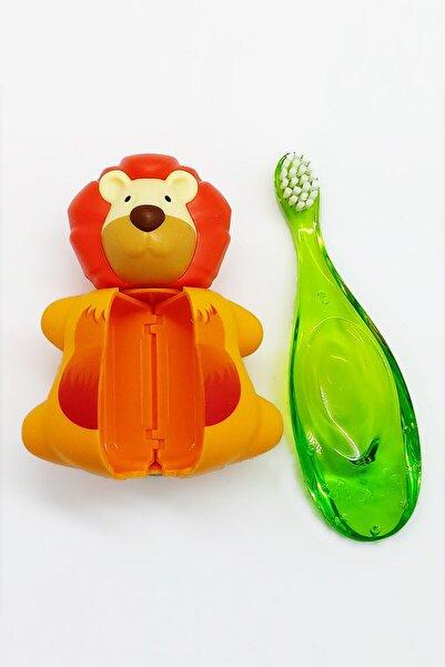 R.O.C.S. Baby 0-3 Yaş Diş Fırçası Ve Flipper Hijyenik Saklama Kabı Seti - Aslan Figürlü