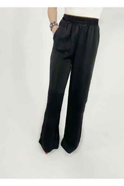 Letizia byece Kadın Siyah Yüksek Bel Pantolon