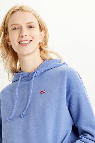 Levi's Standard Graphic Kadın Mavi Kapüşonlu Sweatshirt