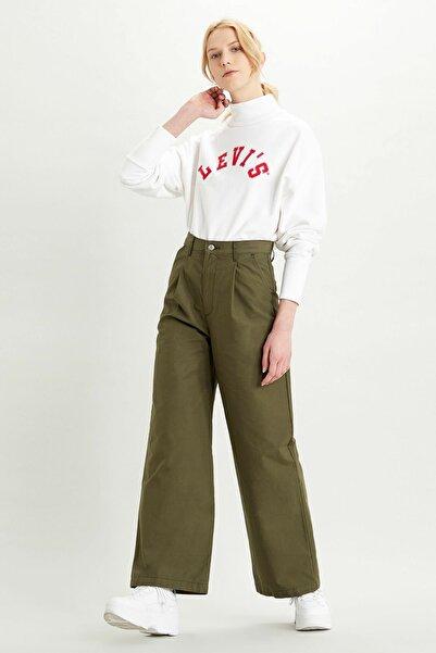 Levi's Kadın Pleated High Loose Kadın Khaki Pantolon-Crisp Twill  Night 3688700010