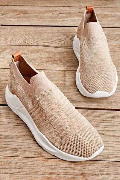 Bej Kadın Sneaker K01673050582