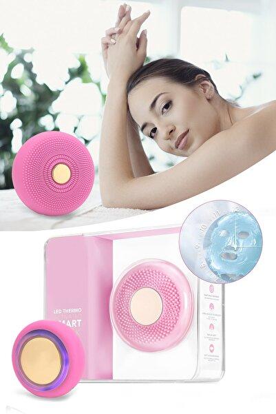 xolo Smart Mask Ultrasonik Maske Uygulama Cihazı Işık Terapi Titreşimli Pembe Peeling Masaj Cihazı