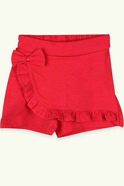 Breeze Kız Bebek Etek Şort Fırfırlı Fiyonklu Kırmızıi (1.5-2 YAŞ)