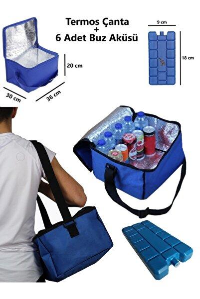 3 Termos Çanta Araç Termosu 21 Litre Oto Buzdolabı Araç Içi Soğutucu Çanta Ve 6 Adet Buz Aküsü Piknik
