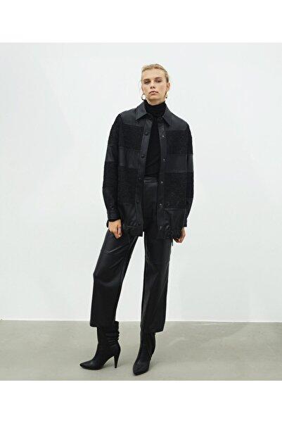 İpekyol Kadın Siyah Dantel Mixli Ceket