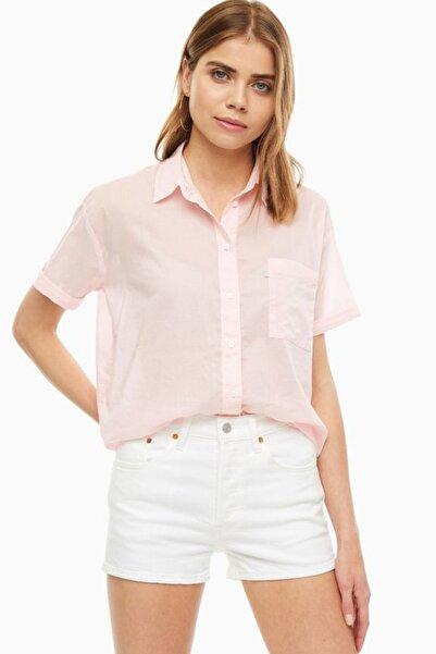 Levi's Kadın Pembe Kısa Kollu Keten Gömlek