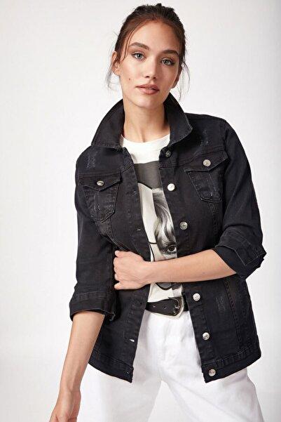 0616 Yırtıklı Kot Ceket