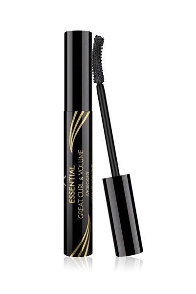 Kıvrım & Hacim Etkili Siyah Maskara - Essential Great Curl & Volume Mascara 8691190070618