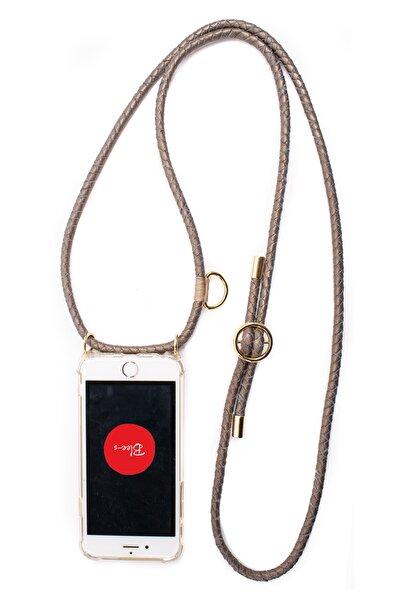 Blee-s Iphone 11 Deri Askılı Cep Telefonu Kılıfı Koro-gold