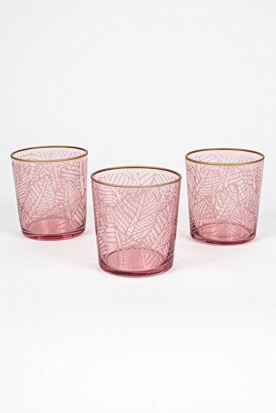 Rakle Exotic 3'lü Meşrubat Bardağı Seti_kırmızı 380 cc
