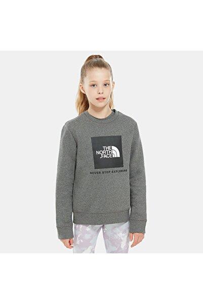 Çocuk Gri Box Crew Polar Sweatshirt