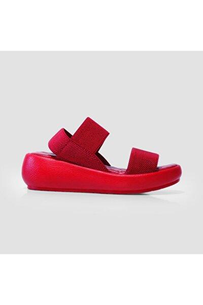 Jeep Kadın Kırmızı  Trendy Sandalet J0246 Zn