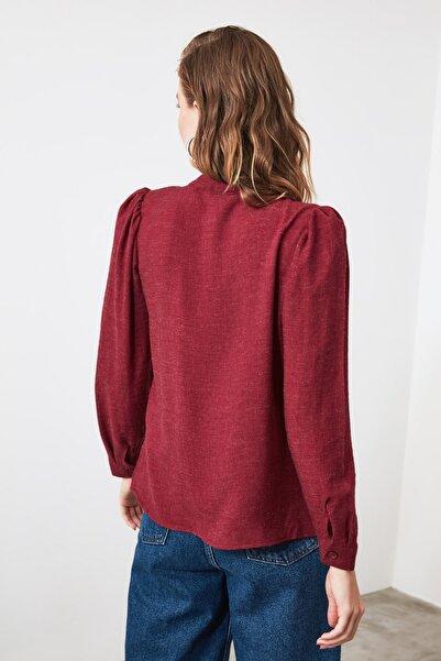 Bordo Kırçıllı Gömlek TWOAW21GO0009