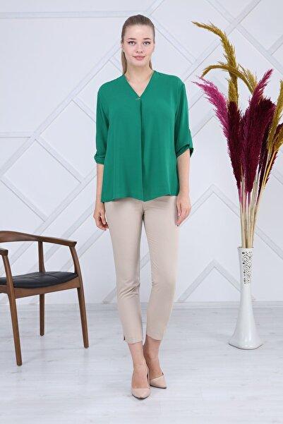 Modayız Yeşil Bluz G6-1188