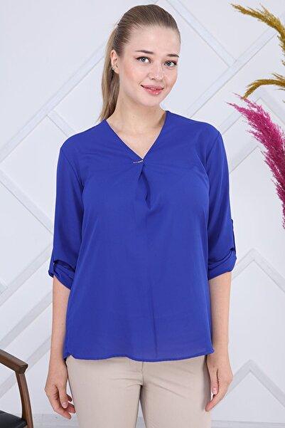 Modayız Saks Bluz G6-1196