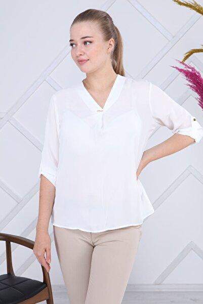 Modayız Beyaz Bluz G6-1195
