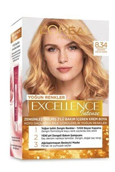L'Oreal Paris Saç Boyası - Excellence Creme 8.34 Zengin Sıcak Sarı