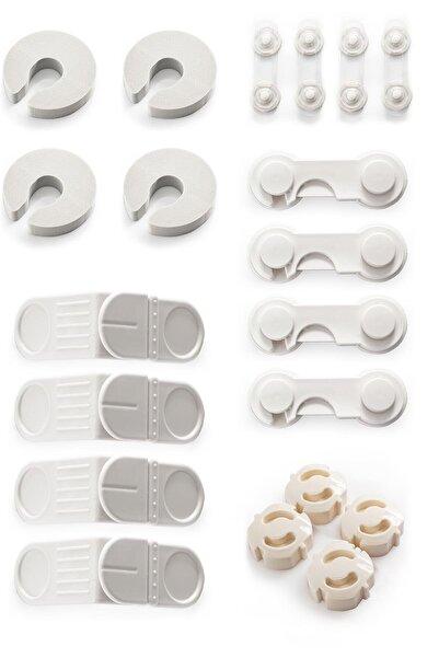 İdeal Baby 4'er Sünger Kapı Durdurucu+mini Çok Amaçlı Kilit+kapak Kilidi+köşe Kilidi+priz Kapağı