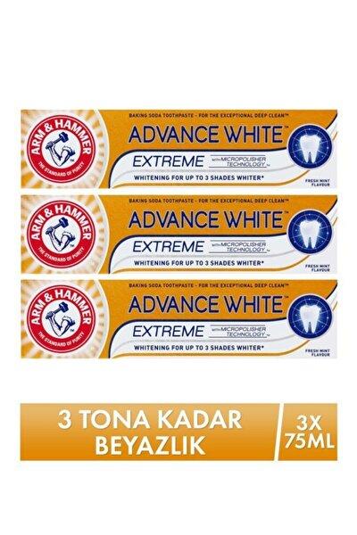 Arm&Hammer Arm Hammer 3 Tona Kadar Beyazlatıcı Diş Macunu - Advance White 75 Ml X 3