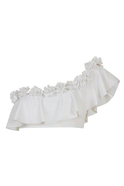 Penti Kadın Beyaz Plume Tek Omuz Bikini Üstü