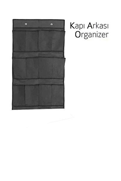 Vivyan 12 Cepli Kapı Arkası Çok Amaçlı Organizer - Siyah