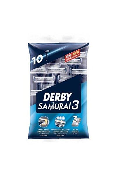 Derby Samurai 3 10 Adet 3 Bıçaklı Kayganlaştırıcılı